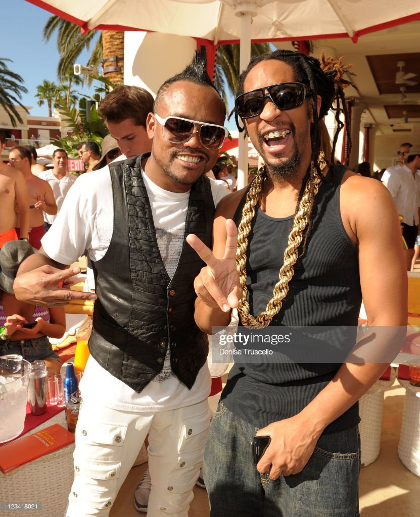 apl.de.ap and <a gi-track='captionPersonalityLinkClicked' href=/galleries/search?phrase=Lil+Jon+-+Rapper&family=editorial&specificpeople=202659 ng-click='$event.stopPropagation()'>Lil Jon</a> during Labor Day weekend at Encore Beach Club At Encore Las Vegas on September 2, 2011 in Las Vegas, Nevada.
