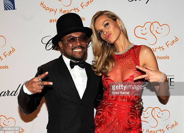 Apldeap and Petra Nemcova attend the Happy Hearts Fund Gala with Chopard 10 year anniversary of the Indian Ocean tsunami tribute at Cipriani 42nd...