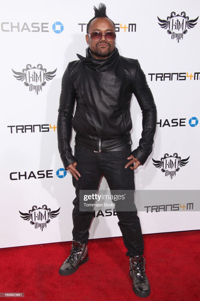 Apl.de.ap attends the 2nd Annual Will.i.am TRANS4M Boyle Heights benefit concert held at Avalon on February 7, 2013 in Hollywood, California.