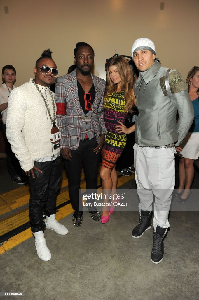 Apl.de.ap, will.i.am, Fergie and <a gi-track='captionPersonalityLinkClicked' href=/galleries/search?phrase=Taboo+-+Singer&family=editorial&specificpeople=203068 ng-click='$event.stopPropagation()'>Taboo</a> of the Black Eyed Peas attend Nickelodeon's 24th Annual Kids' Choice Awards at Galen Center on April 2, 2011 in Los Angeles, California.