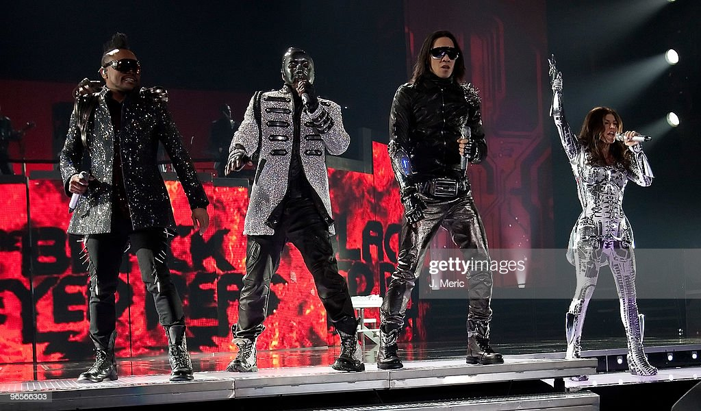apldeap William Taboo and Fergie of the Black Eyed Peas perform during a concert at the St Pete Times Forum on February 10 2010 in Tampa Florida