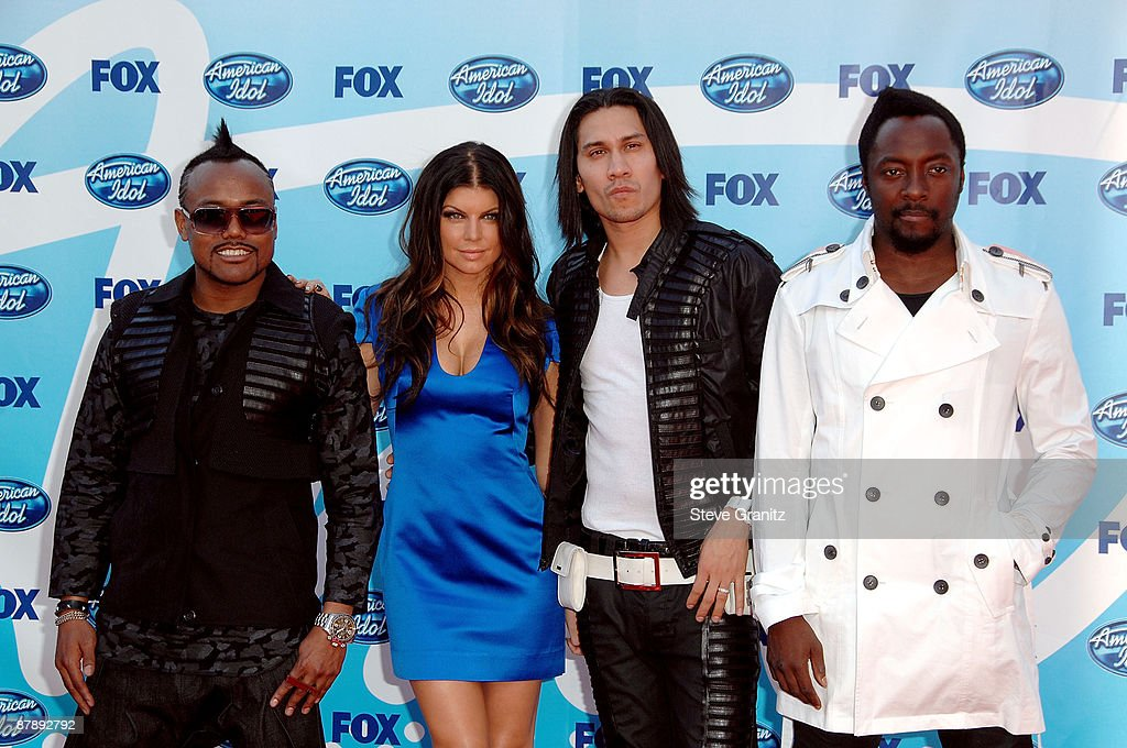 Aple.De.Ap, Fergie, Taboo and will.i.am of Black Eyed Peas arrive at the American Idol Season 8 Grand Finale held at Nokia Theatre L.A. Live on May 20, 2009 in Los Angeles, California.