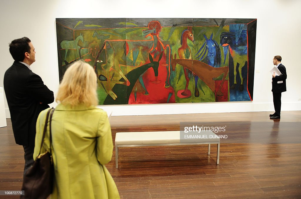 'Apocalipsis' by Sergio Hernandez is on display during a preview of Chrisitie's Latin American Art auctions, May 24, 2010 in New York. Christie's will hold its Latin American Art auctions on May 26 and 27, 2010. AFP PHOTO/Emmanuel Dunand