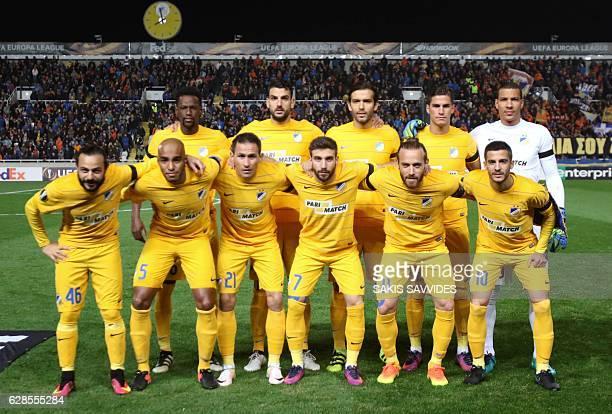 Apoel's starting eleven midfielder Vinicius defender Giorgos Merkis midfielder Nuno Morais forward Pieros Sotiriou goalkeeper Boy Waterman forward...