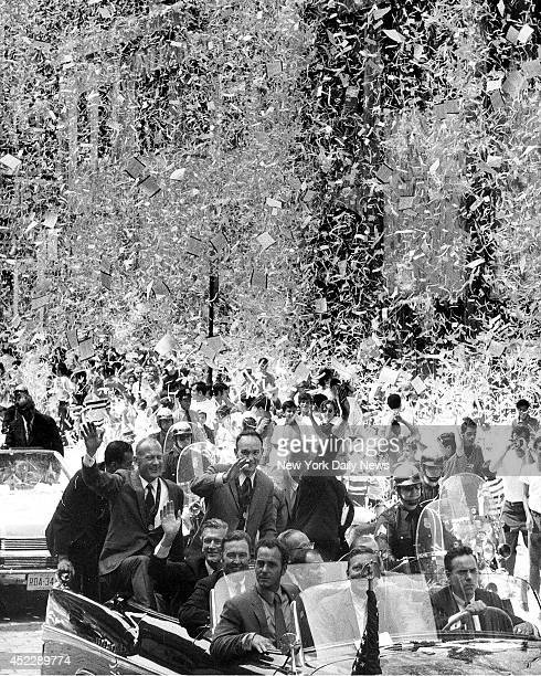 Apollio 11 Parade The moon men get a warm welcome home as New Yorkers pile into the street to celebrate the Apollo 11 homecoming at the tickertape...