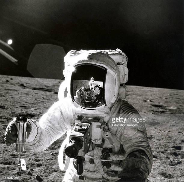 Apollo 12 Astronauts On Moon