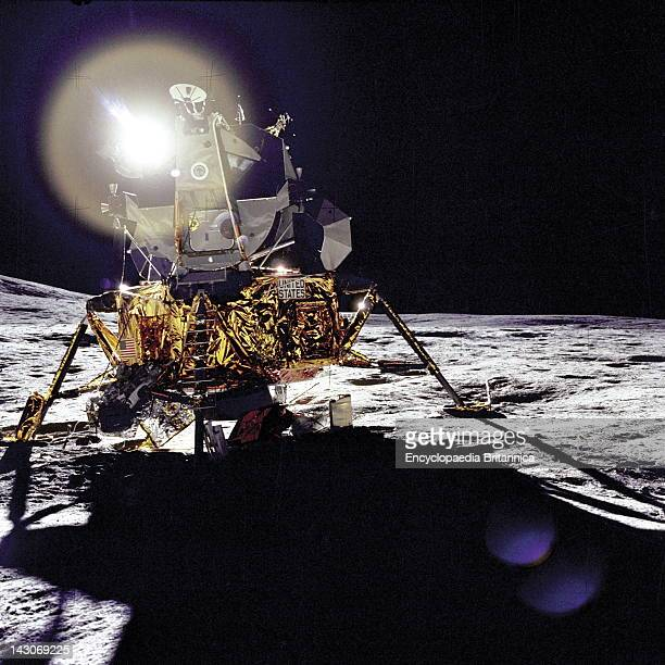 Apollo 14 Lunar Module Front Of The Apollo 14 Lunar Module On February 5 Apollo 14 Was The Third Manned Lunar Landing And The First Use Of The...