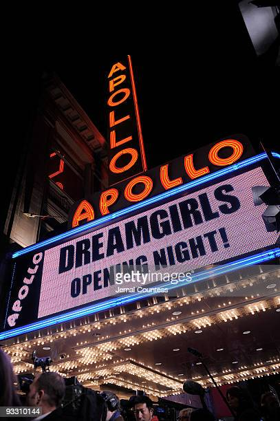 Apollo marquee at the opening night of ''Dreamgirls'' at The Apollo Theater on November 22 2009 in New York City