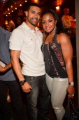 Apollo Nida and Phaedra Parks attend the VH1 'Love and Hip Hop Atlanta' premiere party at Frank Ski's Restaurant on June 13 2012 in Atlanta Georgia
