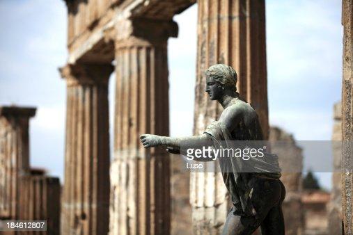 Apollo statue in Pompeii, Italy (apollo temple)