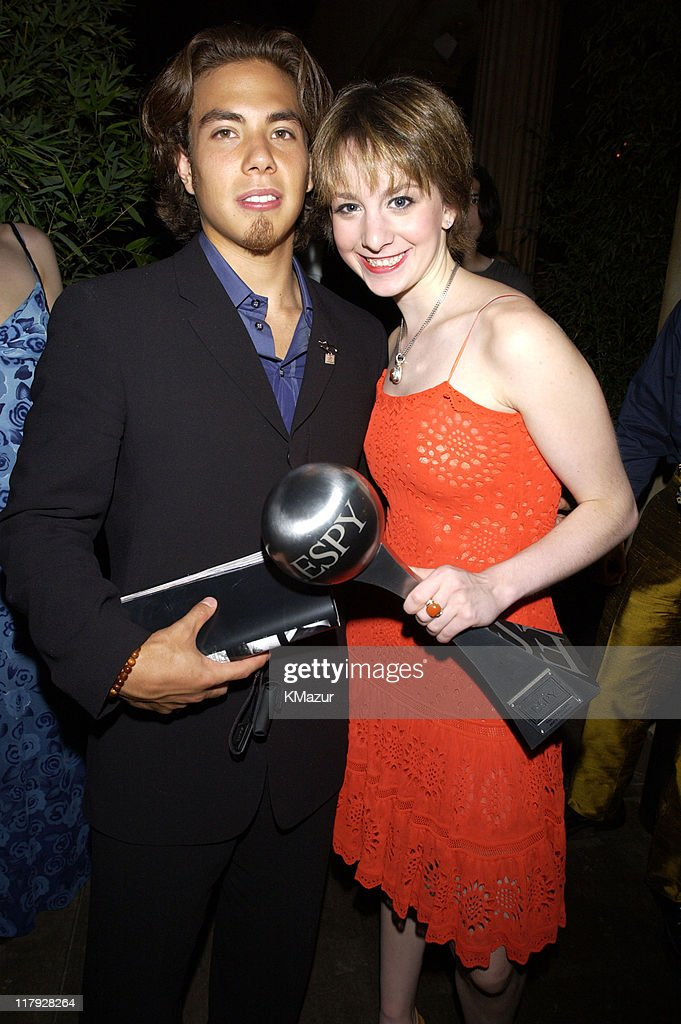 Apolo Anton Ohno and Sarah Hughes during 2002 ESPY Awards - After Party at The Highlands in Hollywood, California, United States.
