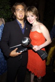 Apolo Anton Ohno and Sarah Hughes during 2002 ESPY Awards After Party at The Highlands in Hollywood California United States