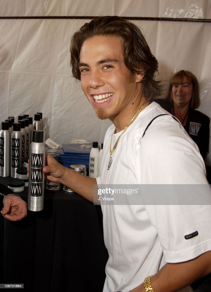 Apolo Anton Ohno with William Whatley Haircare during Nickelodeon's 15th Annual Kids Choice Awards Backstage Creations Talent Retreat Day 2 at Barker...