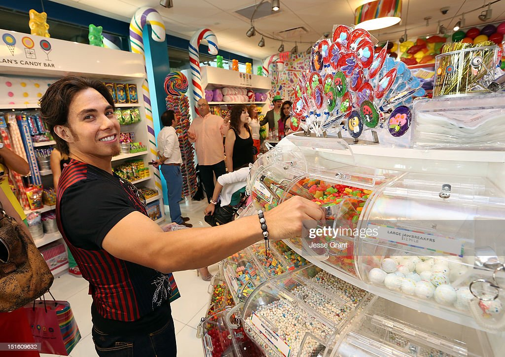Apolo Ohno attends the Dylan's Candy Bar Los Angeles Opening at the Original Farmers Market on September 8 2012 in Los Angeles California