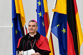 Apostolic nuncio in Germany Archbishop Nikola Eterovic delivers his speech to foreign diplomatic representatives during the annual meeting at...