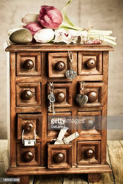 Apothecary Cabinet with Trinkets