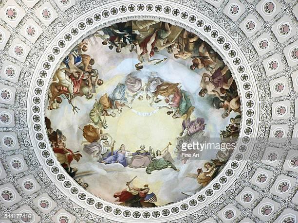 Apotheosis of Washington by Constantino Brumidi fresco rotunda of the United States Capitol | Located in US Capitol Rotunda