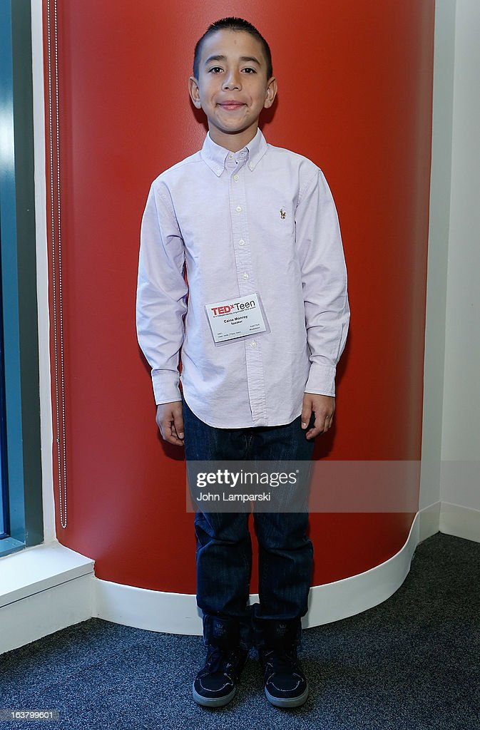 App creator Caine Monroy attends TEDxTeen 2013 at Scholastic Inc. Headquarters on March 16, 2013 in New York City.