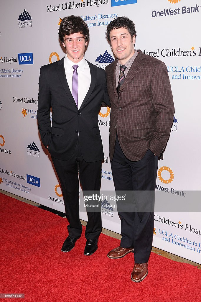 App designer Cameron Cohen and actor Jason Biggs attend 'The Kaleidescope Ball' benefitting The UCLA Children's Discovery And Innovation at Beverly Hills Hotel on April 17, 2013 in Beverly Hills, California.