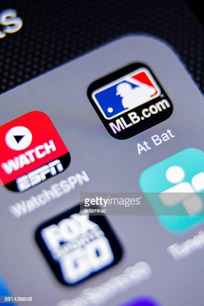 MLB App Icon on iPhone