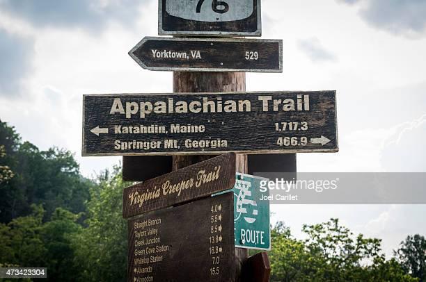 Appalachian Trail sign in Damascus, Virginia