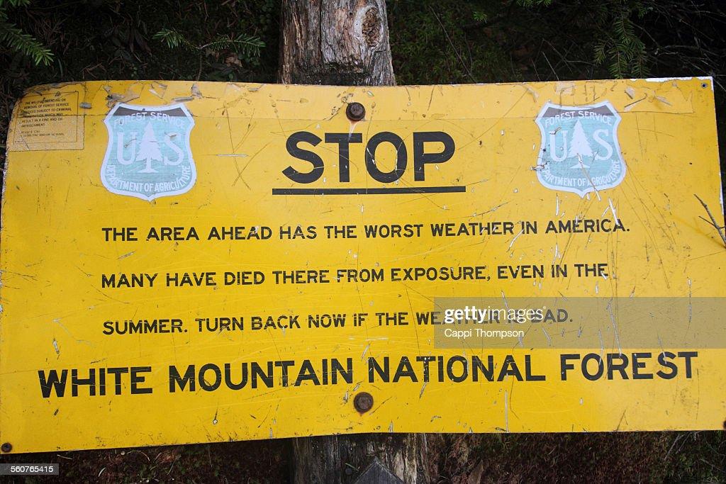 Appalachian trail warning sign