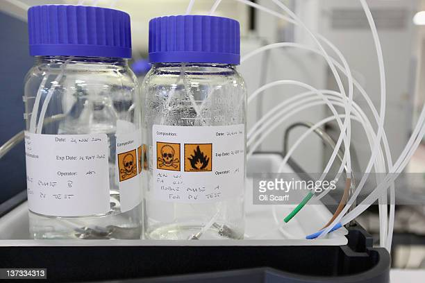 Apparatus in the antidoping laboratory which will test athlete's samples from the London 2012 Games on January 19 2012 in Harlow England The facility...