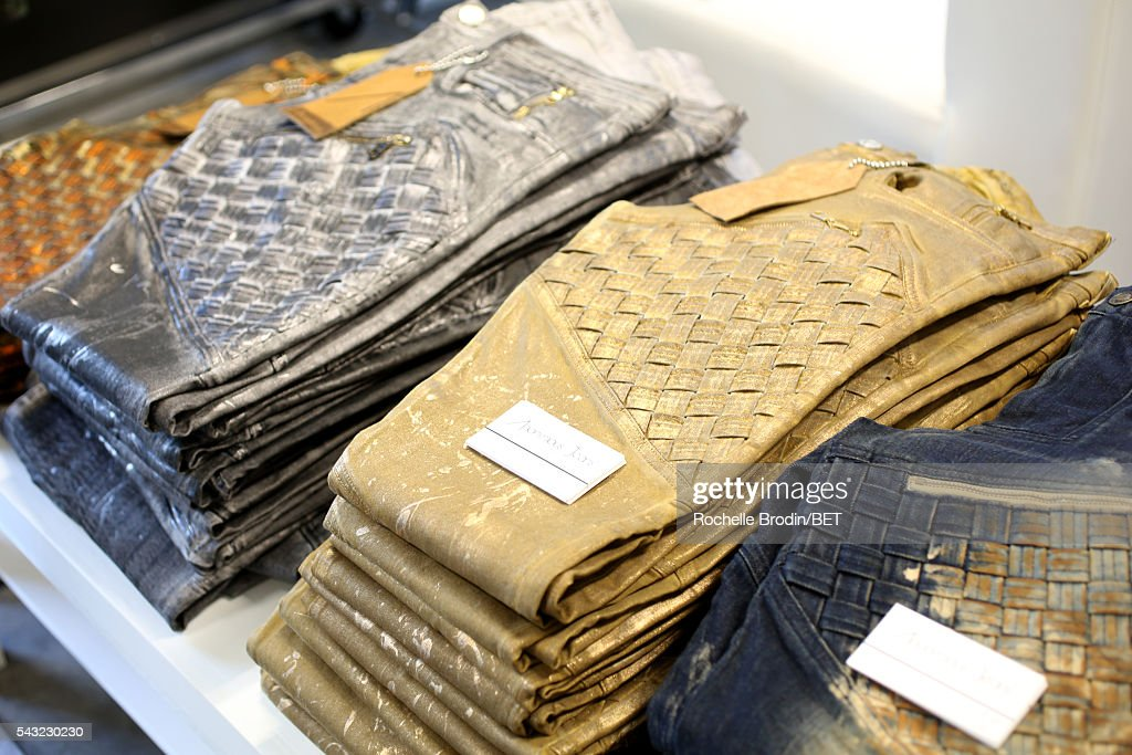 Apparel is displayed at the BETX gifting suite during the 2016 BET Experience on June 26, 2016 in Los Angeles, California.