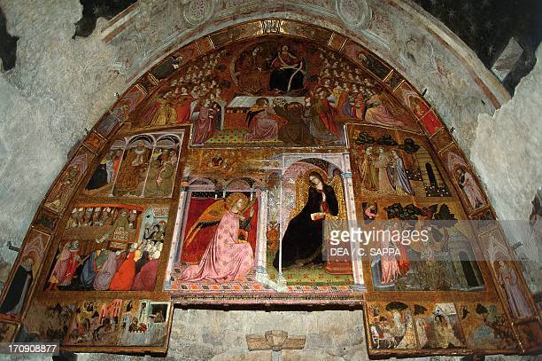 Apparition and the Pardon of Assisi altarpiece by Prete Ilario Portiuncula the Basilica of St Mary of the Angels Santa Maria degli Angeli Assisi...