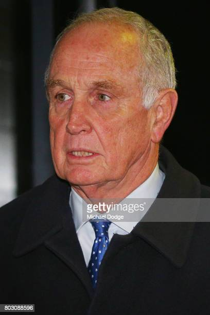 Appeals Board member Michael Green arrives for the AFL appeal against the Bachar Houli two week suspension at AFL House on June 29 2017 in Melbourne...