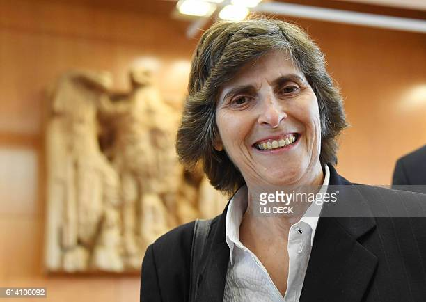 Appellant Marianne GrimmensteinBalas waits for the opening of a hearing of an emergency appeal against the transatlantic trade deal CETA at the...