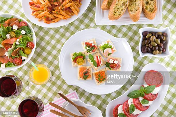 Appetizers on Table