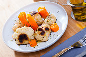 Appetizing cauliflower with carrots