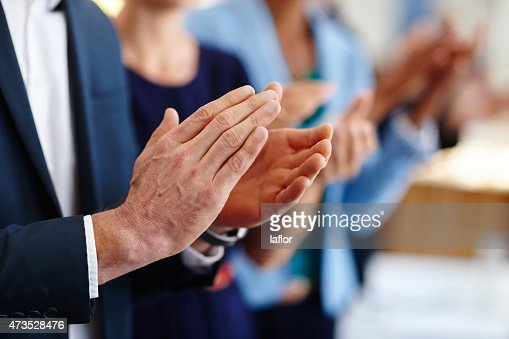 Applauding a great presentation