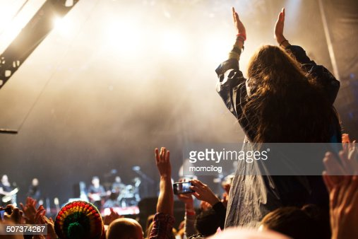 Applauding at the concert