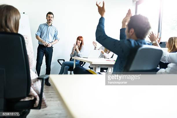 applauding the talk