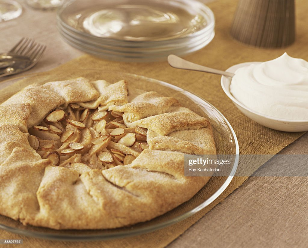 Apple and Almond Crostata : Stock Photo