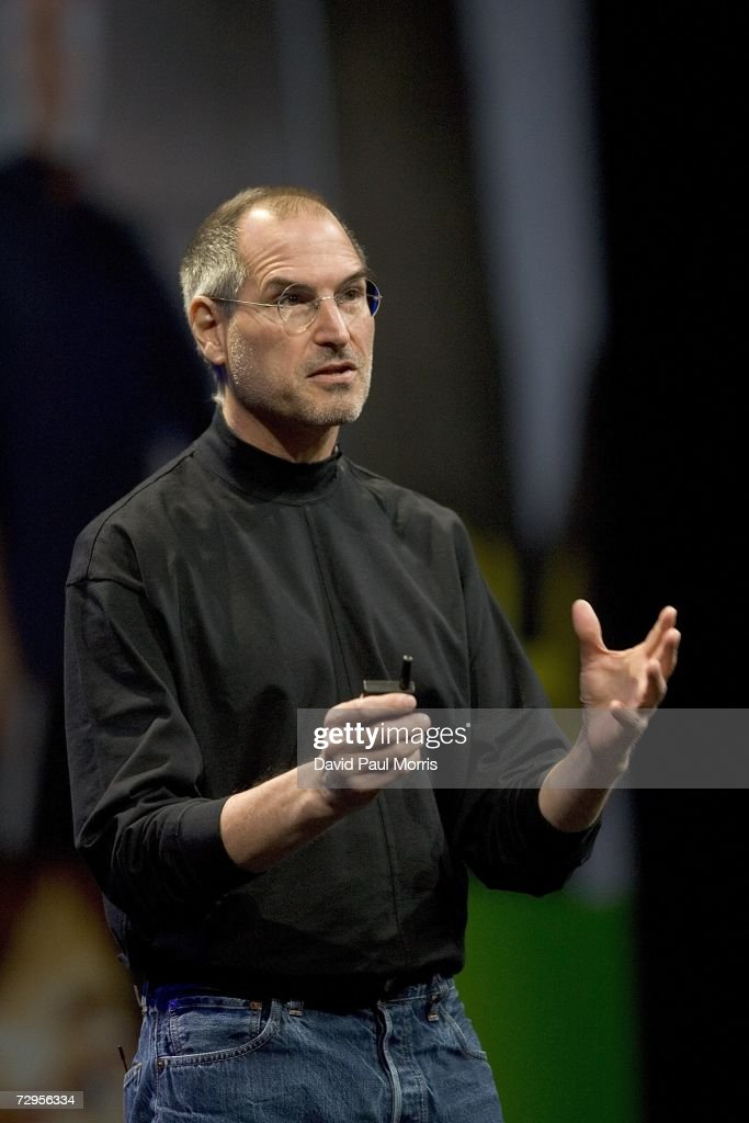 Apple CEO Steve Jobs delivers his keynote speech at Macworld on January 9, 2007 in San Francisco, California. During the keynote Jobs introduced the new iPhone which will combine a mobile phone, a widescreen iPod with touch controls and a internet communications device with the ability to use email, web browsing, maps and searching. The iPhone will start shipping in the US in June 2007.