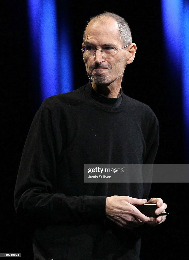 Apple CEO <a gi-track='captionPersonalityLinkClicked' href=/galleries/search?phrase=Steve+Jobs&family=editorial&specificpeople=204493 ng-click='$event.stopPropagation()'>Steve Jobs</a> delivers the keynote address at the 2011 Apple World Wide Developers Conference at the Moscone Center on June 6, 2011 in San Francisco, California. Apple CEO <a gi-track='captionPersonalityLinkClicked' href=/galleries/search?phrase=Steve+Jobs&family=editorial&specificpeople=204493 ng-click='$event.stopPropagation()'>Steve Jobs</a> returned from sick leave to introduce Apple's new iCloud storage system and the next versions of Apple's iOS and Mac OSX.
