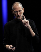 Apple CEO Steve Jobs delivers the keynote address at the 2011 Apple World Wide Developers Conference at the Moscone Center on June 6 2011 in San...
