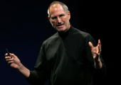 Apple CEO Steve Jobs delivers the keynote address at the Apple Worldwide Web Developers Conference June 11 2007 in San Francisco California Jobs...