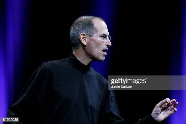 Apple CEO Steve Jobs delivers the keynote address at the Apple Worldwide Web Developers Conference June 9 2008 in San Francisco California Jobs...
