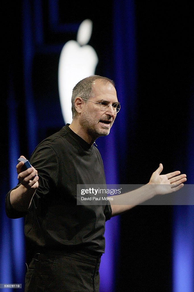 Apple CEO Steve Jobs opens the Apple Worldwide Developers conference with his keynote speech June 6 2005 at the Moscone Center in San Francisco...
