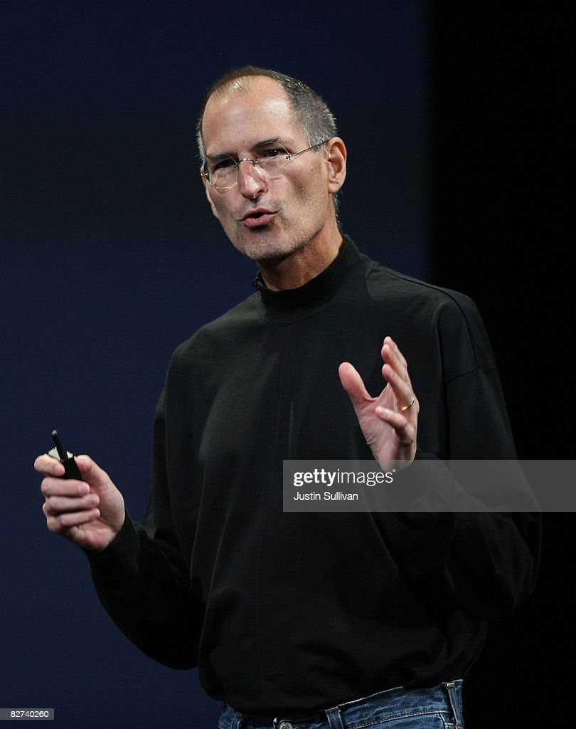 Apple CEO Steve Jobs speaks during a special event September 9, 2008 in San Francisco, California. Jobs announced a new version of the popular iTunes software.