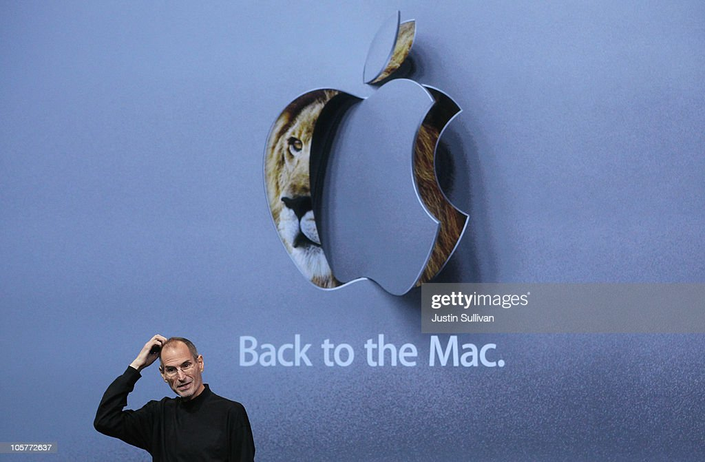 Apple CEO <a gi-track='captionPersonalityLinkClicked' href=/galleries/search?phrase=Steve+Jobs&family=editorial&specificpeople=204493 ng-click='$event.stopPropagation()'>Steve Jobs</a> speaks during an Apple special event at the company's headquarters on October 20, 2010 in Cupertino, California. Apple announced a new version of it's iLife suite and is expected to announce a new operating system for its Mac computers.