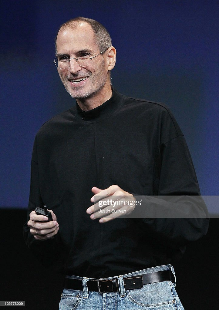 Apple CEO <a gi-track='captionPersonalityLinkClicked' href=/galleries/search?phrase=Steve+Jobs&family=editorial&specificpeople=204493 ng-click='$event.stopPropagation()'>Steve Jobs</a> speaks during an Apple special event at the company's headquarters on October 20, 2010 in Cupertino, California. Apple is expected to announce a new operating system for its Mac computers.