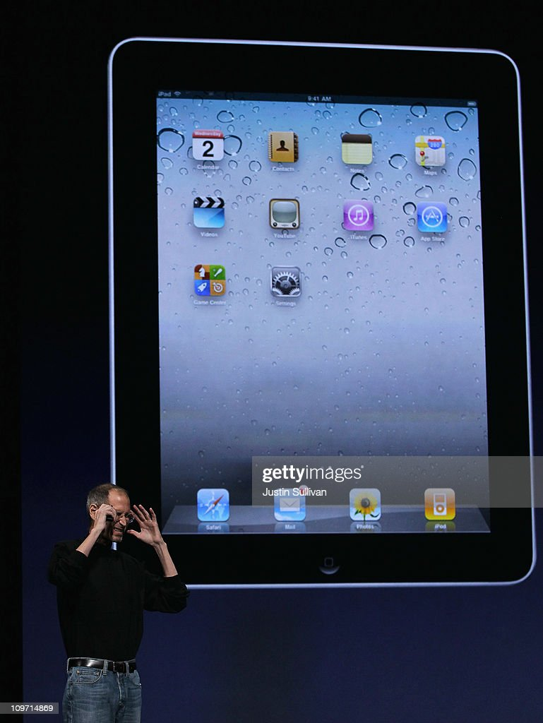 Apple CEO <a gi-track='captionPersonalityLinkClicked' href=/galleries/search?phrase=Steve+Jobs&family=editorial&specificpeople=204493 ng-click='$event.stopPropagation()'>Steve Jobs</a> speaks during an Apple Special event at the Yerba Buena Center for the Arts on March 2, 2011 in San Francisco, California. Apple unveiled the iPad 2 as the successor to its popular tablet the iPad.