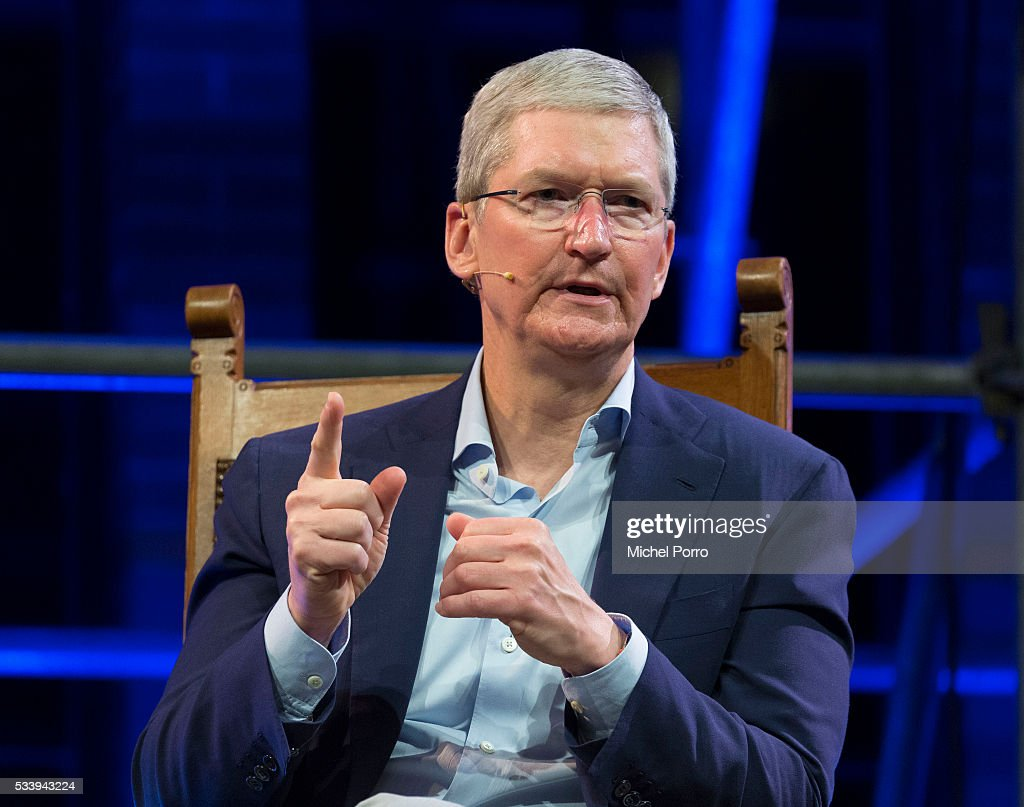 Apple CEO <a gi-track='captionPersonalityLinkClicked' href=/galleries/search?phrase=Tim+Cook+-+Business+Executive&family=editorial&specificpeople=8084206 ng-click='$event.stopPropagation()'>Tim Cook</a> attends the kick-off of Startup Fest Europe on May 24, 2016 in Amsterdam, The Netherlands. The event facilitates match-making between investors and startup entrepreneurs from all over the world.
