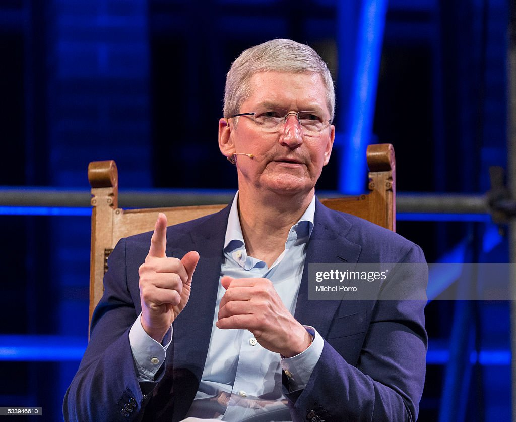 Apple Ceo Tim Cook attends the kick-off of Startup Fest Europe on May 24, 2016 in Amsterdam, The Netherlands. The event facilitates match-making between investors and startup entrepreneurs from all over the world.