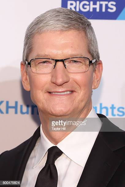 Apple CEO Tim Cook attends the Robert F Kennedy Human Rights 2015 Ripple Of Hope Awards at New York Hilton Midtown on December 8 2015 in New York City